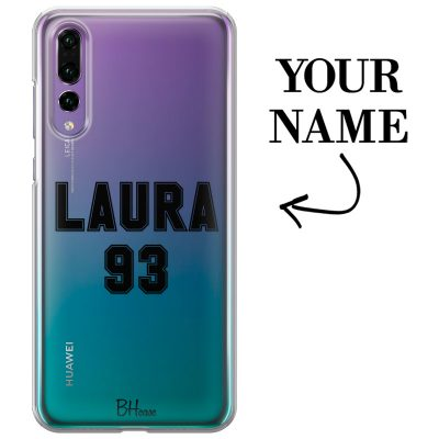 Case with name and number for Huawei P20 Pro