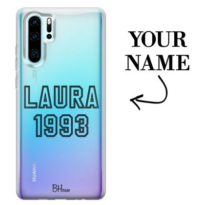 Case with name and number for Huawei P30 Pro