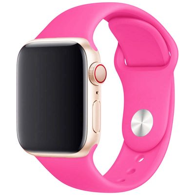 Silicone Band Apple Watch 42/44mm Barbie Powder Large